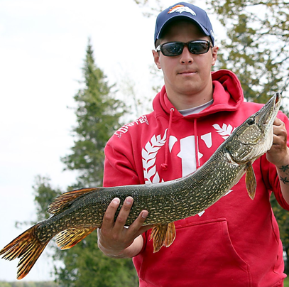 Sebastien Roy with a Pike